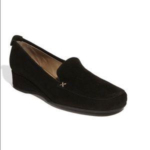 ANYI LU   gaby slip on loafer black suede 10